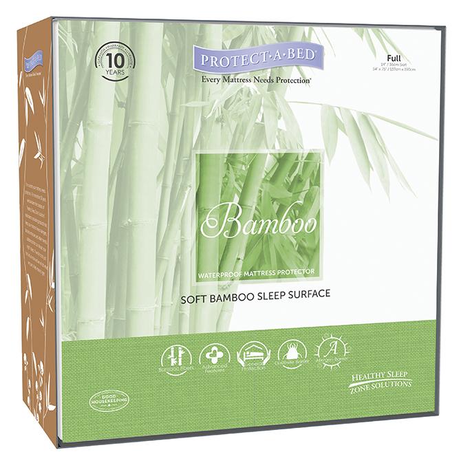 Bamboo Hypoallergenic Waterproof Mattress Pad Protector Image
