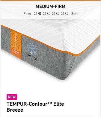 Tempurpedic Tempur-Contour Elite Breeze Mattress Image