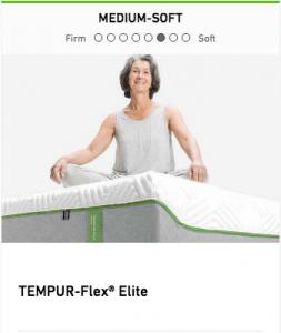 Tempurpedic Tempur-Flex Elite Mattress Image